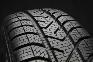 Winter tyre close up